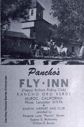Brochure for Pancho's Fly Inn Rancho Oro Verde